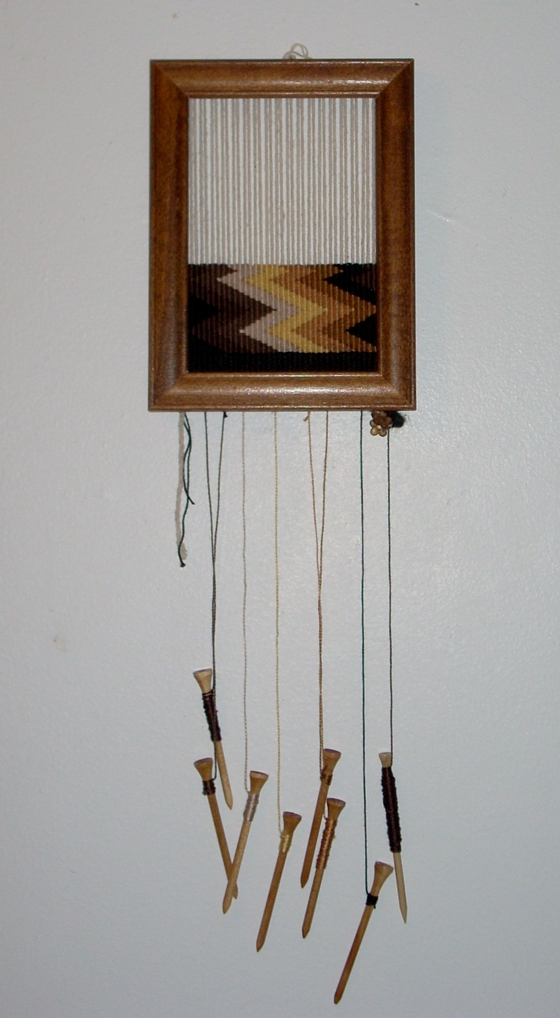 Miniature Tapestry Weaving [on 5x7 wood picture frame] by Laura ...