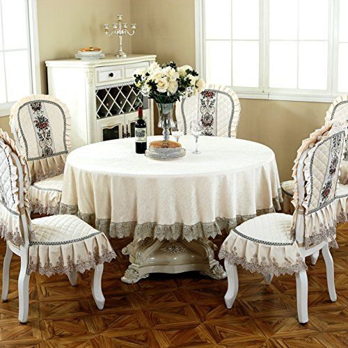 European Chenille Tablecloth Dining Chair Packages Upholstery