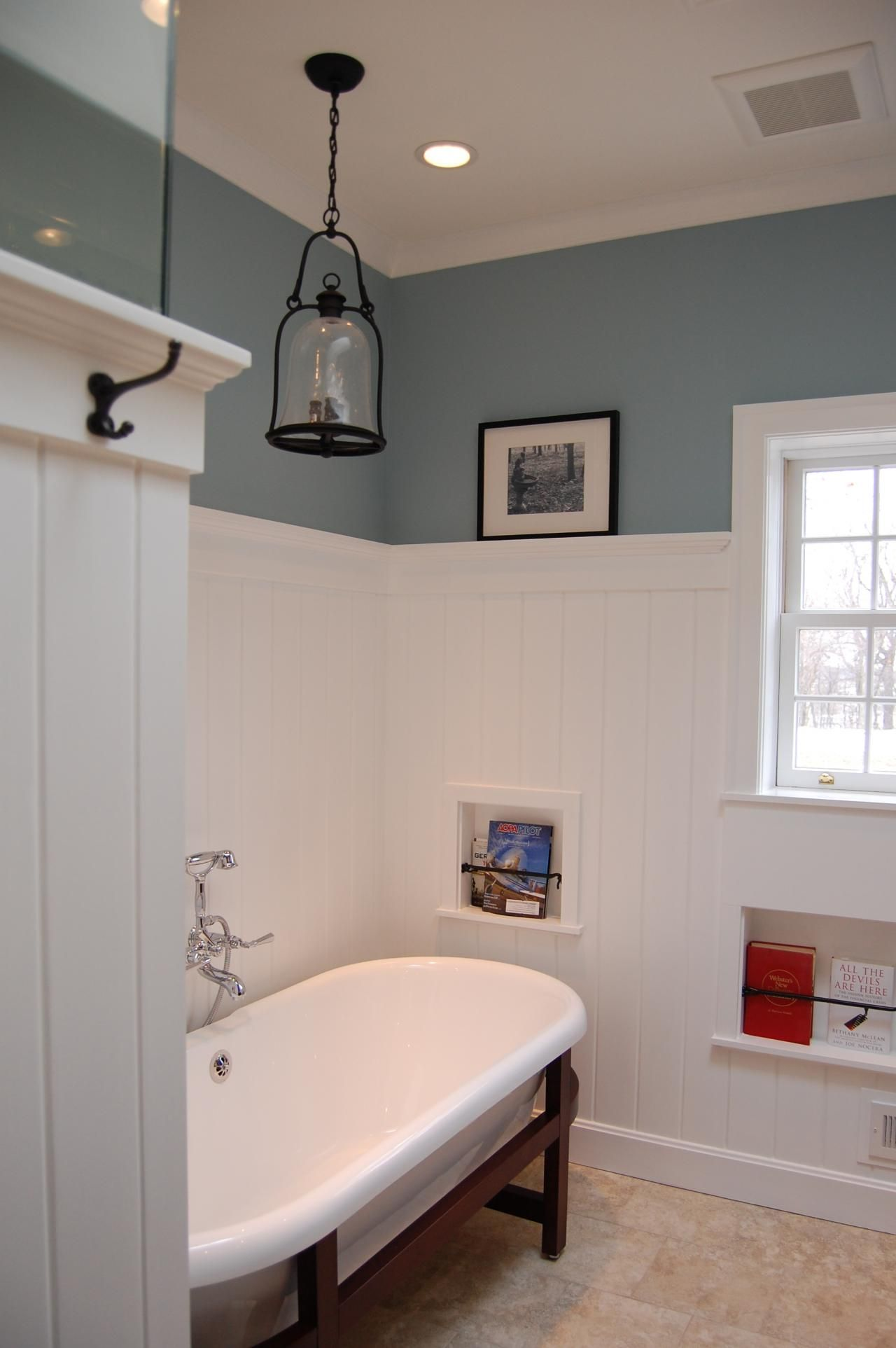 Fairfield Farm Bath Remodel, Included Lots Of Custom Features, Recessed  Niches In The Walls, V Groove Panel Wainscot With Ledge, Freestanding Tub,  ...