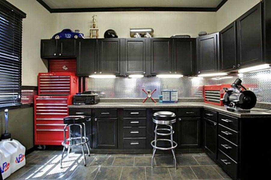 Marvelous Dream Garage · Black Cabinets ...