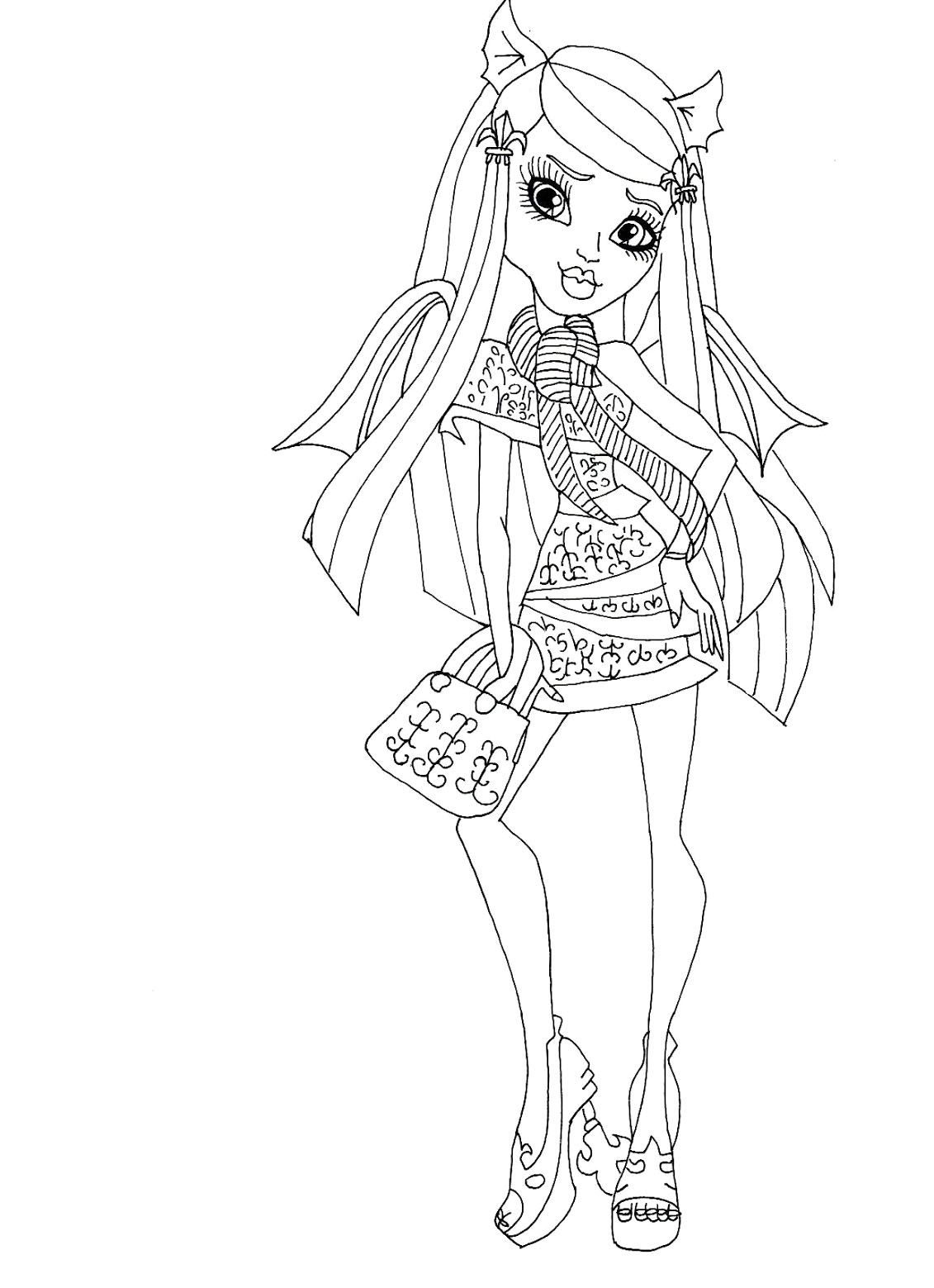 Monster High Rochelle Gregory Goyle Carry Bag Coloring Pages