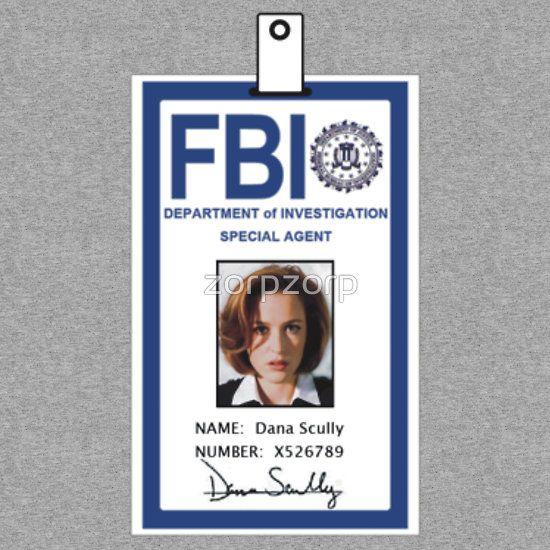 X-Files Dana Scully ID Badge Shirt | x files | Pinterest | Dana ...