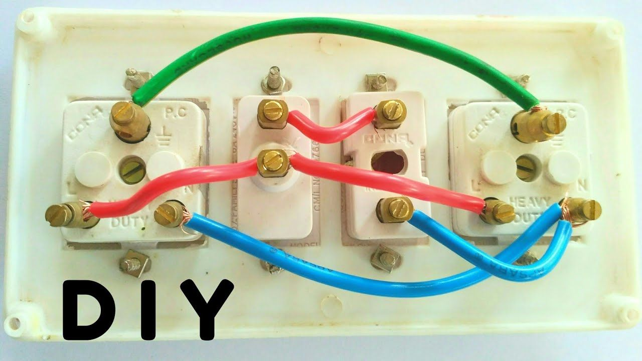 How To Make Extension Board Easy At Home How To Wiring Connection Exten Extension Board Electricity Diy
