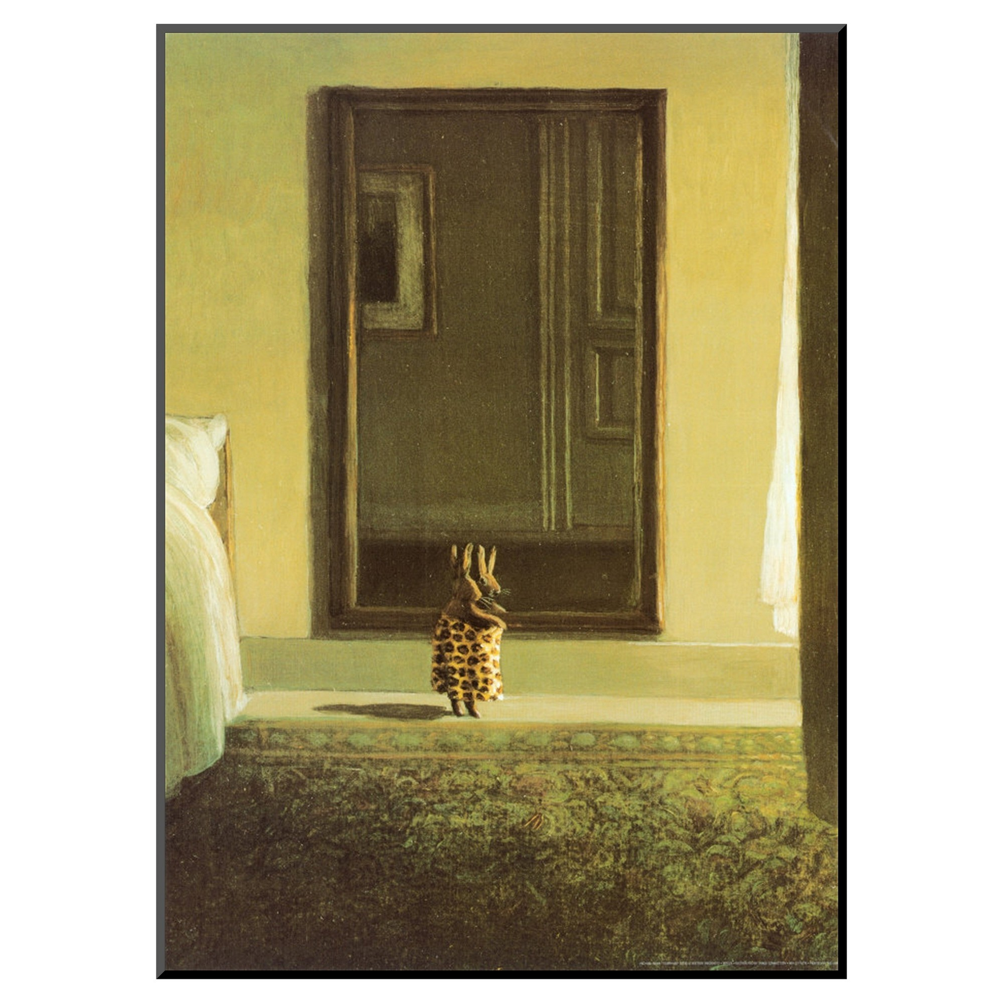 Art.com Bunny Dressing by Michael Sowa - Mounted Print | Products