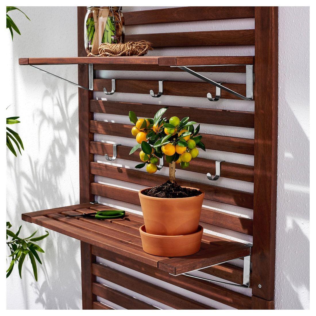 Applaro Wall Panel 2 Shelves Outdoor Brown Stained Brown 31 1 2x11 3 4x62 1 4 Wall Paneling Outdoor Shelves Interior Wood Trim