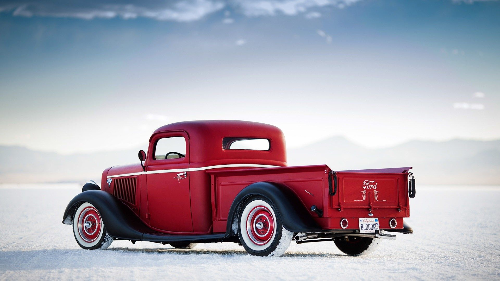 Red Classic Car Hd Wallpaper Freehdwall Com Free Hd Wallpapers For Your Desktop Ford Hot Rod Hot Rod Pickup Truck Yeah