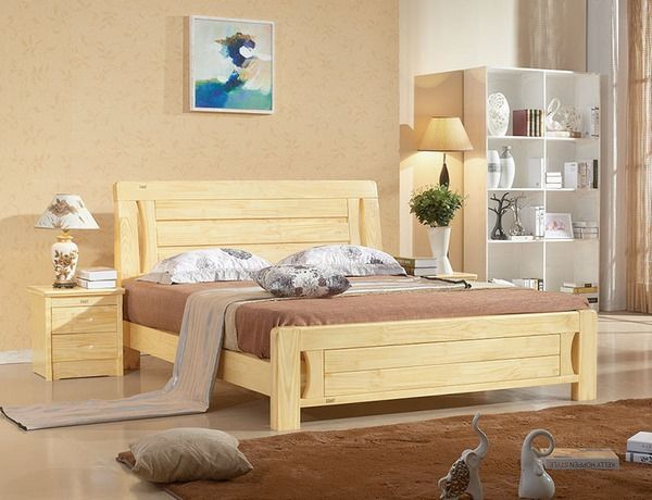 Bon Pine Wood Bed Modern Wood Furniture Ideas #bed #frame #bedroom