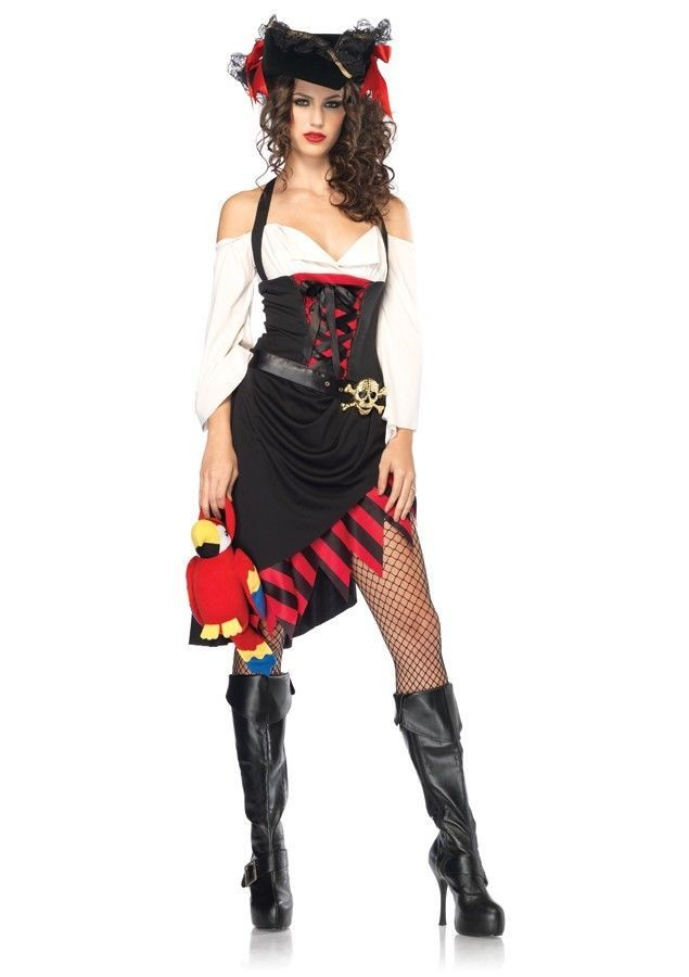 sexy saucy wench pirate adult halloween costume for women legavenue completecostume - Ebaycom Halloween Costumes