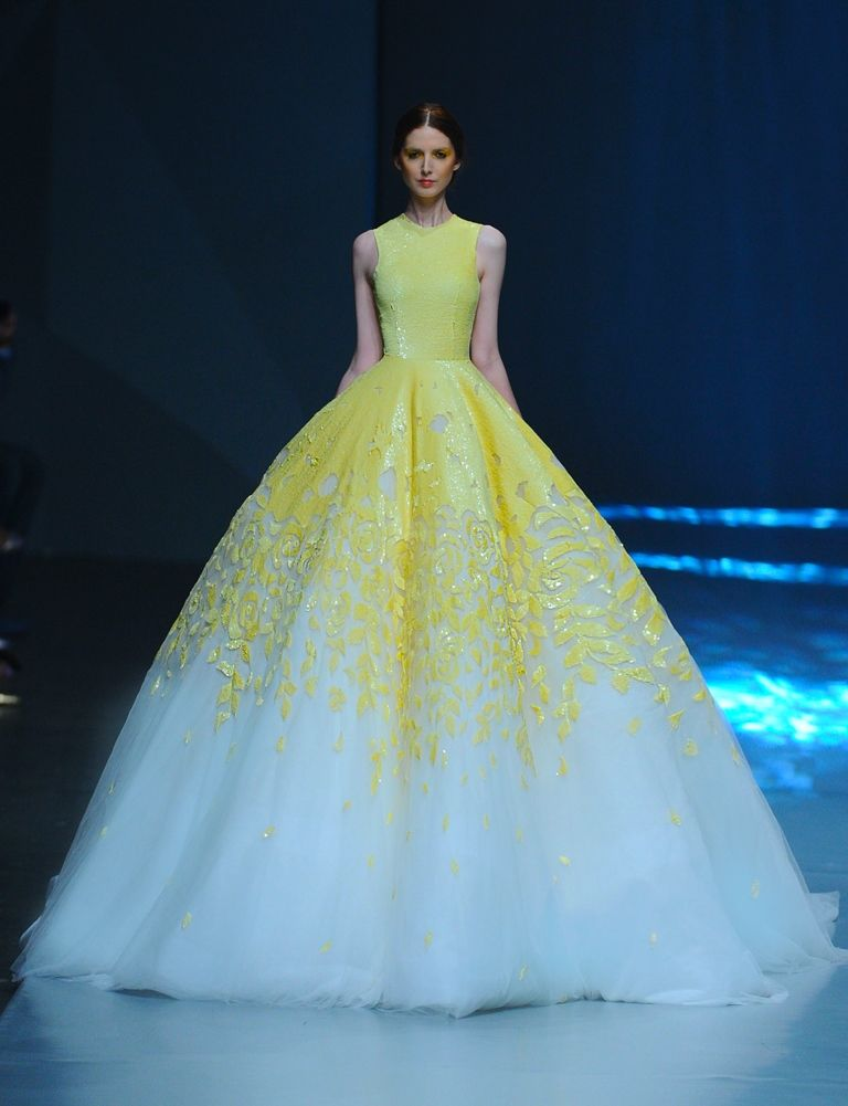 8ec86455bbd Michael Cinco Haute Couture Spring-Summer 2015 yellow dress