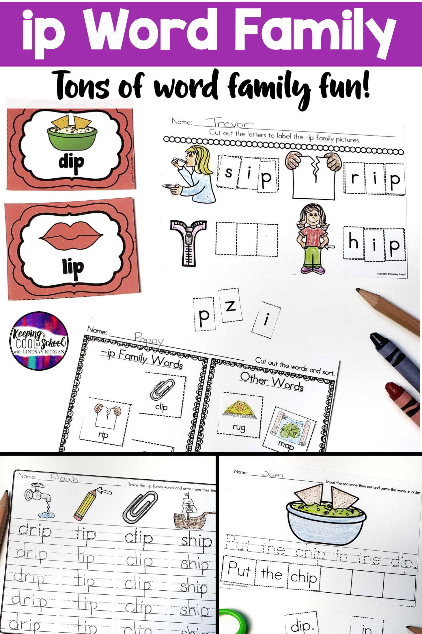 Ip Word Family Activities