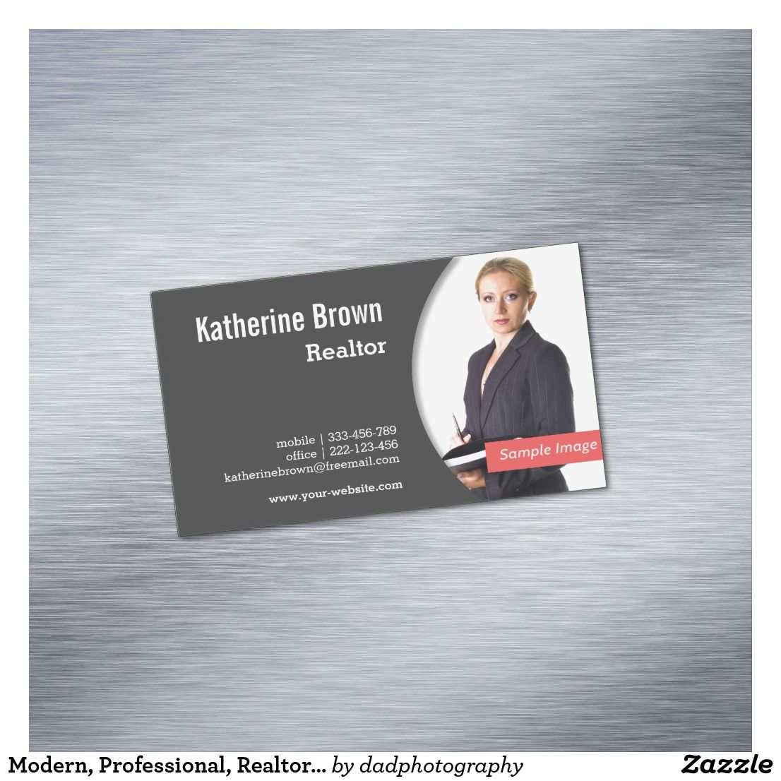 Modern Professional Realtor Real Estate Photo Magnetic Business