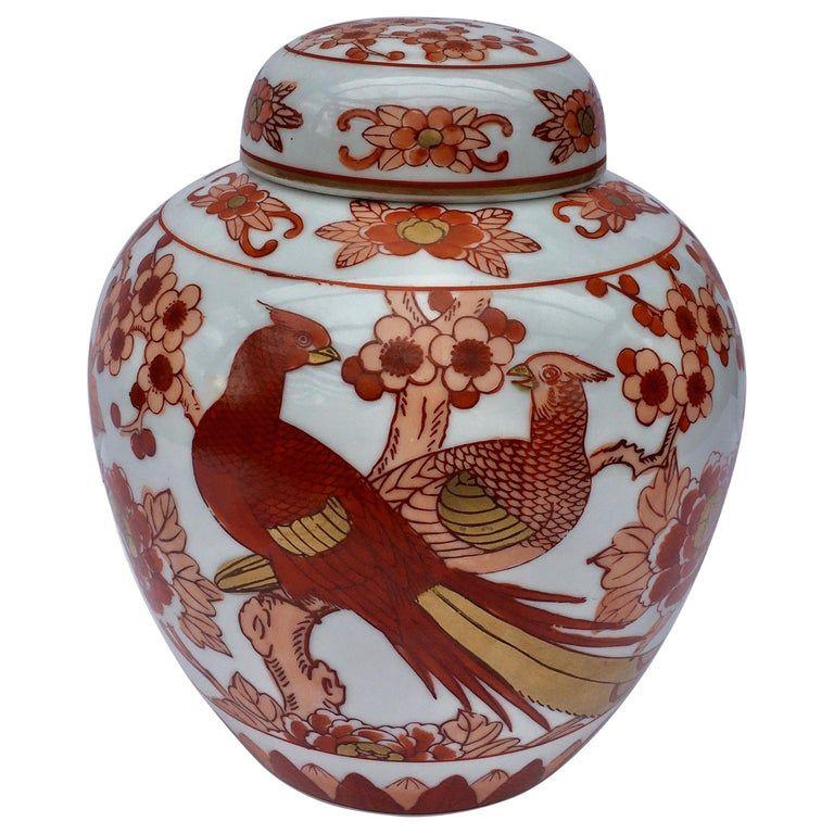 Vintage Japanese Porcelain Polychrome Hand Painted Gold Decorated Bud Vases Tea Ceremony Pair Floral Motif