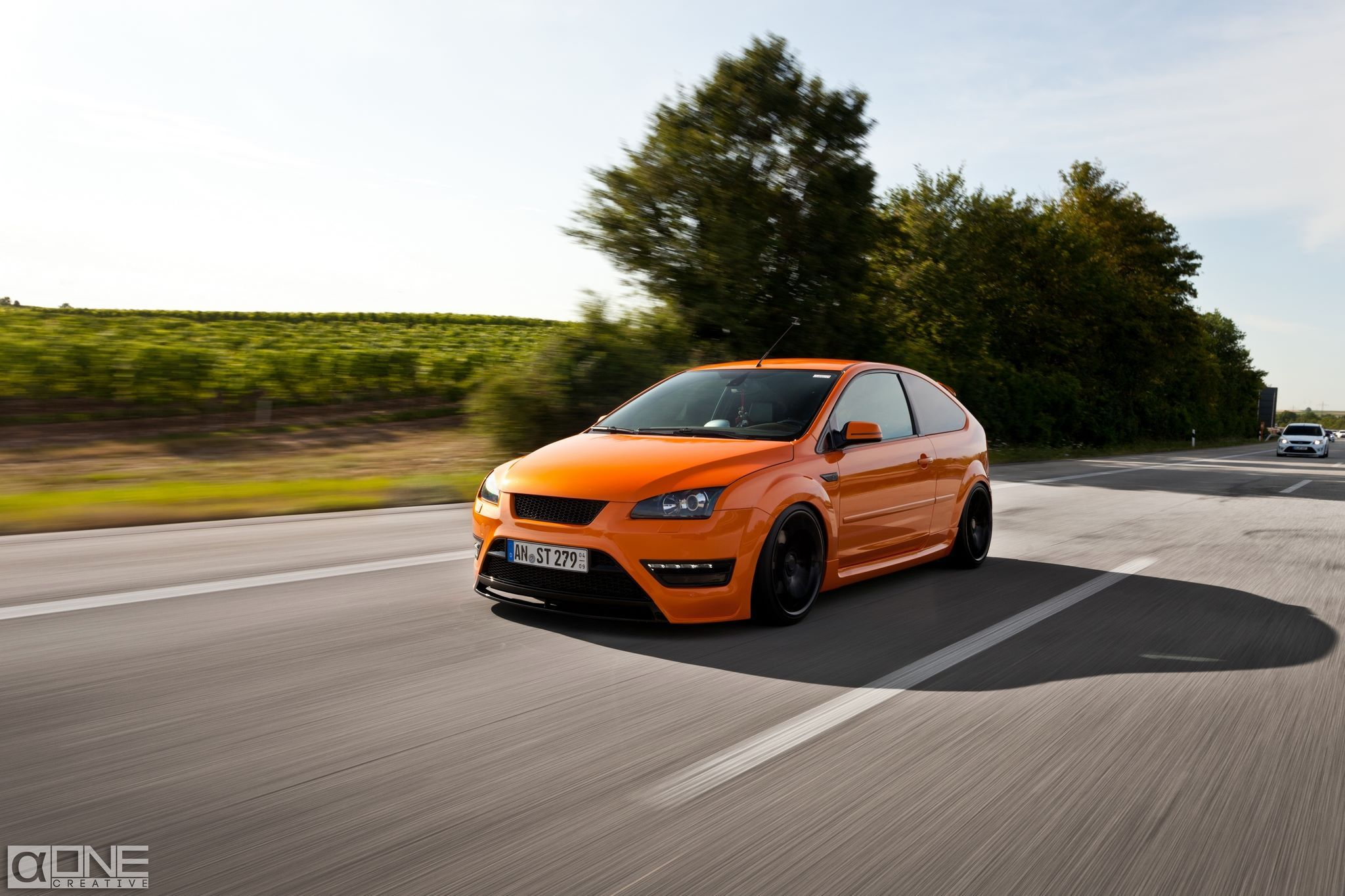 ford focus st mk2 electric orange ford focus st tuning. Black Bedroom Furniture Sets. Home Design Ideas