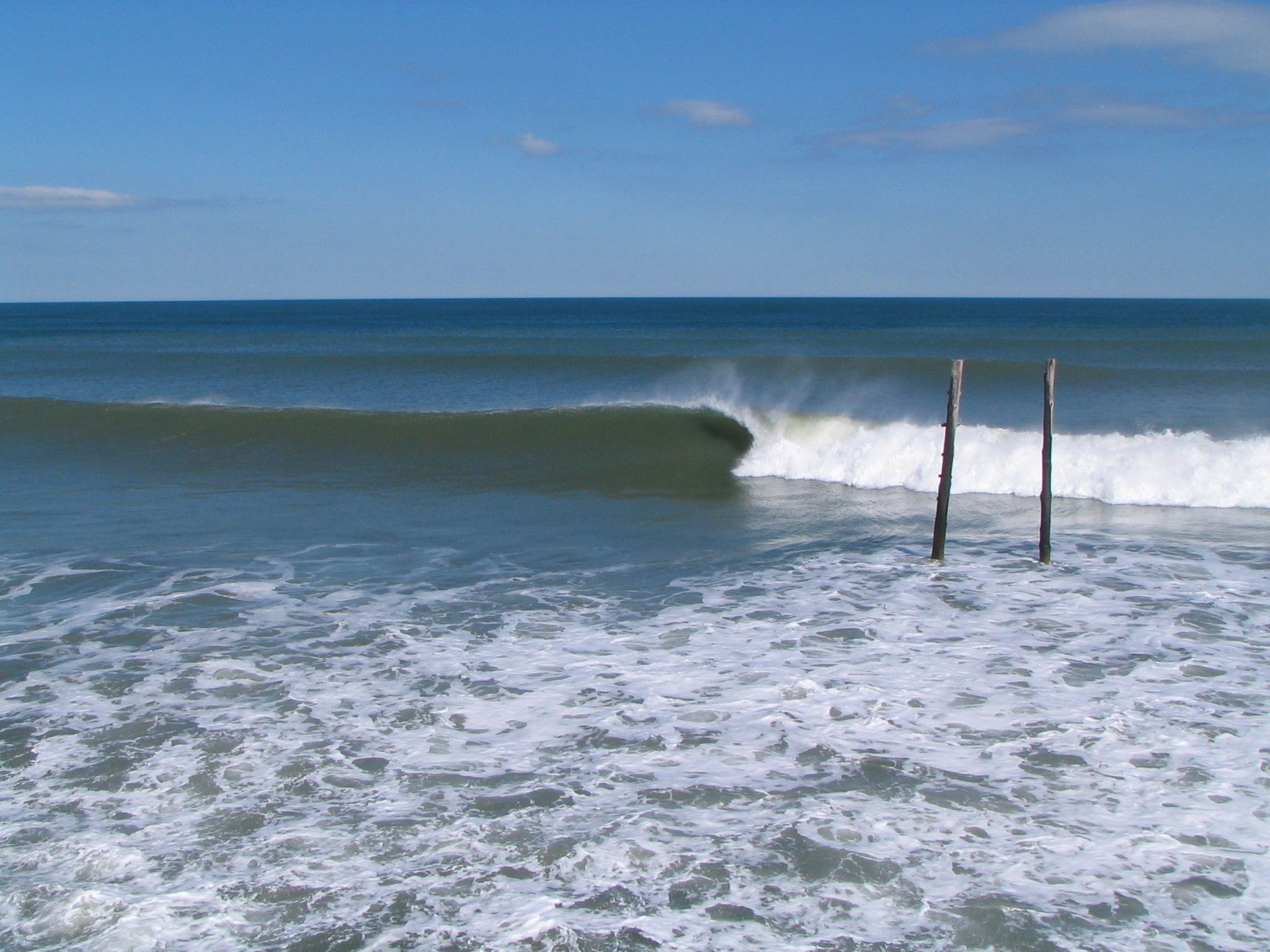 Winter Surf Kitty Hawk Pier No One Out California Summer Surfing California