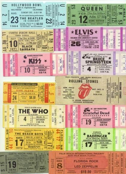 Or make song cards look like vintage tickets http\/\/wwwecrafty - make concert tickets