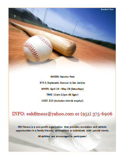 Baseball Flyer Template  Stationary Templates    Flyer