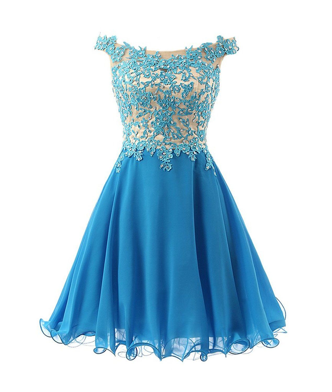 Fnks womenus straps lace bodice short prom gown homecoming party