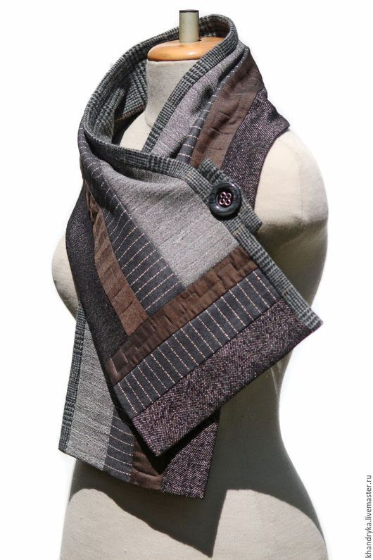 b399fedf9fbd The scarf woolen PATCHWORK – shop online on Livemaster with shipping ...