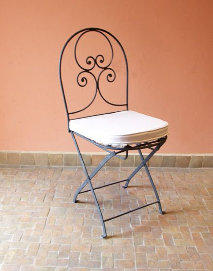 Moroccan Foldable Iron Garden Chair In 2019 Chairs
