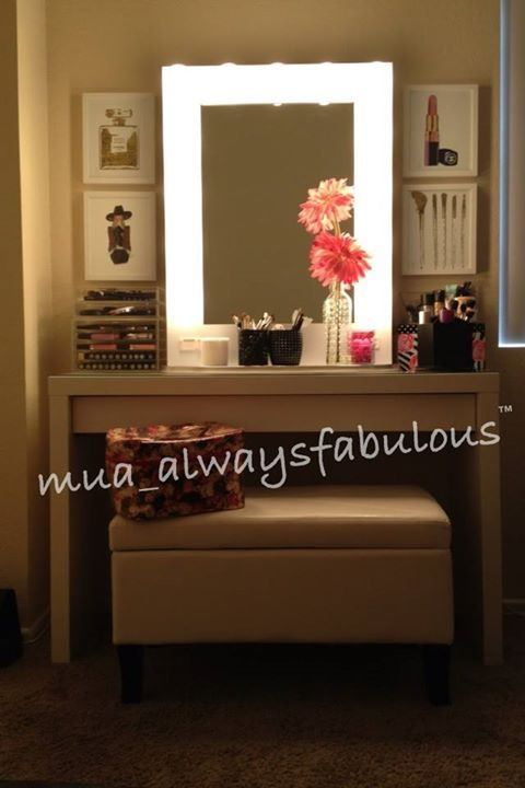 White Vanity love the light up mirror for vanity Hubby is going to ...