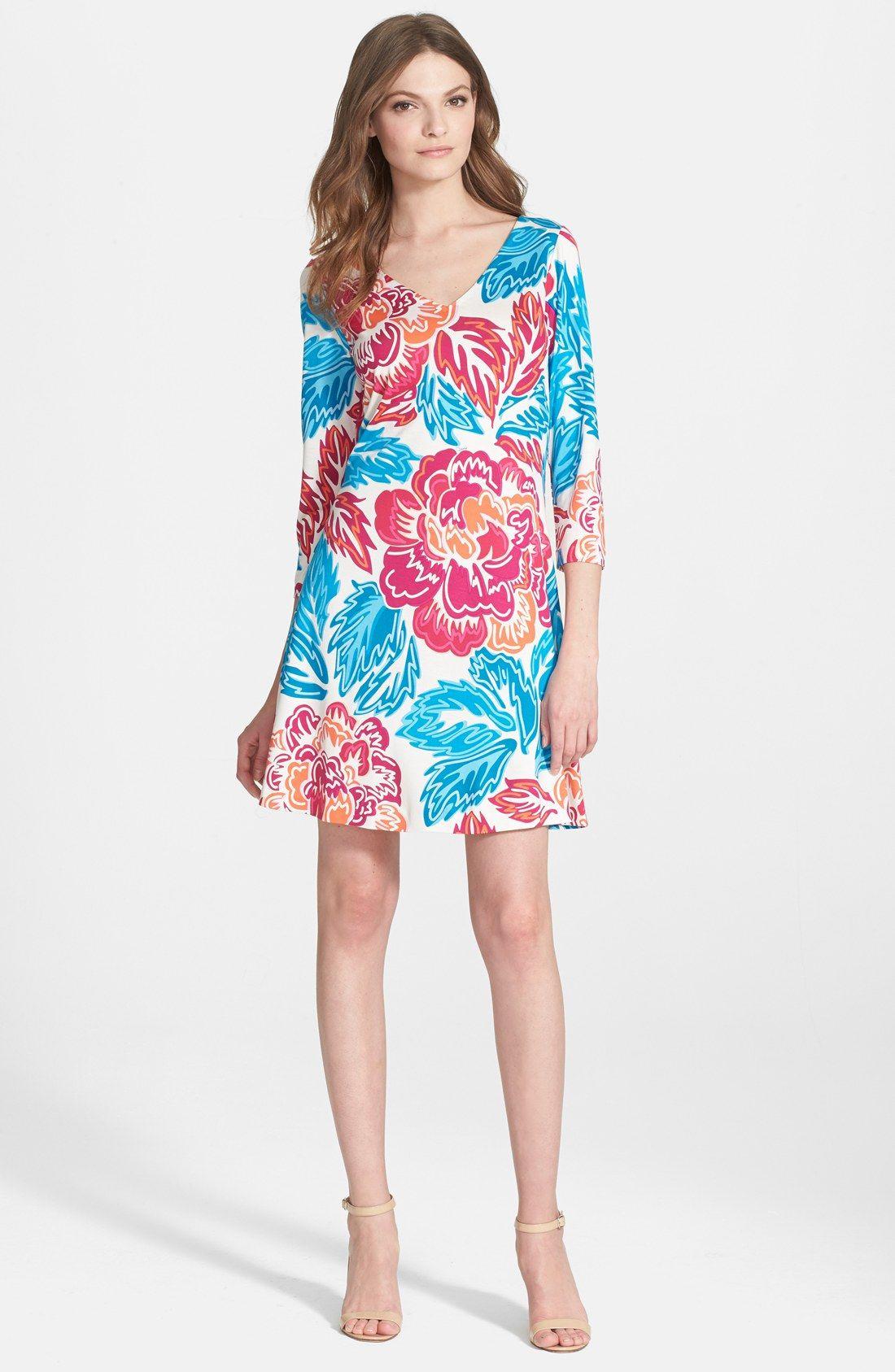 Diane von Furstenberg \'Kaden\' Print Silk Shift Dress   Best outfits ...