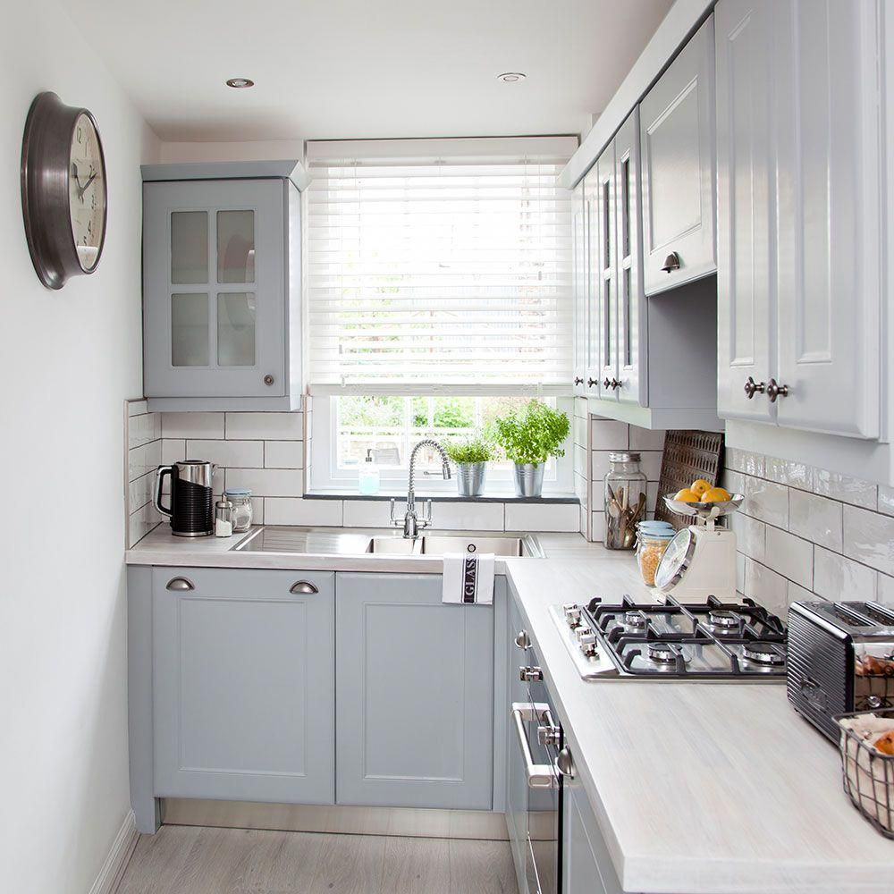 Beautiful Kitchen Design With Grey Cabinets And White