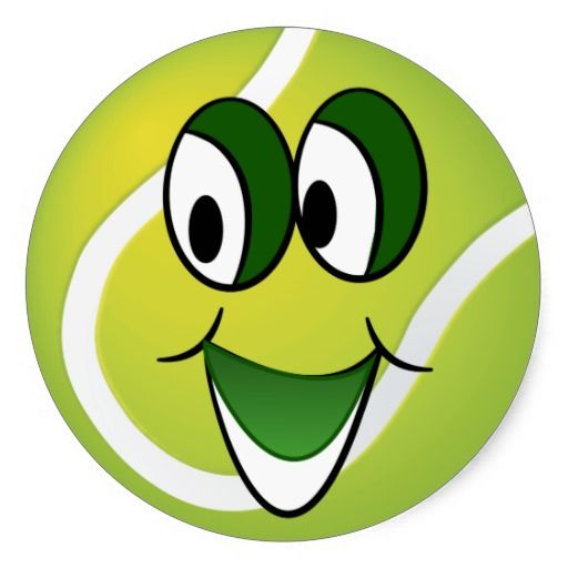 Happy Face Tennis Ball Sticker Fun Plates Gifts For Sports Fans Smiley