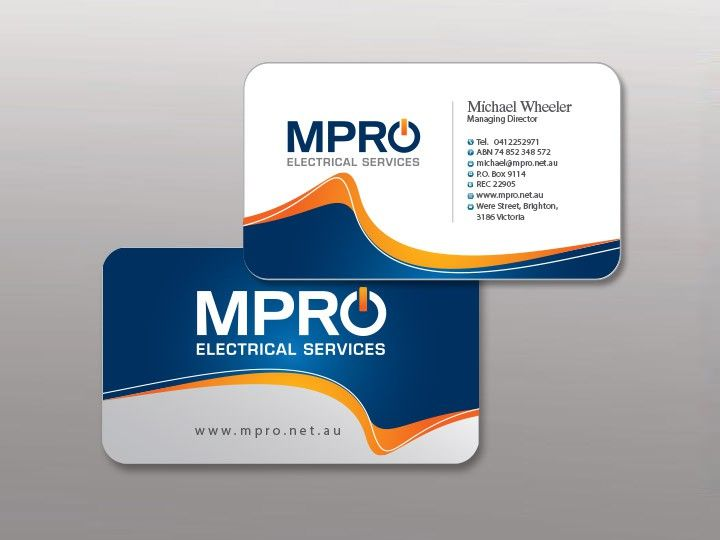 New Business Card Wanted For MPRO ELECTRICAL SERVICES By