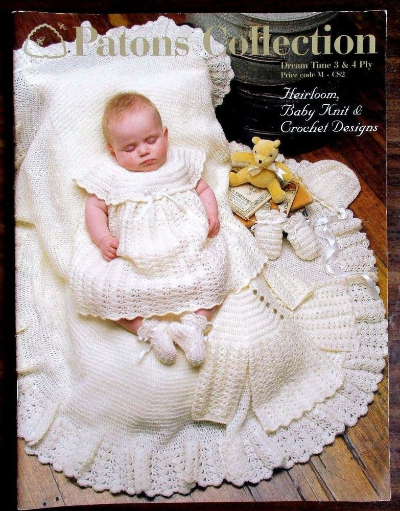 PATONS COLLECTION DREAM TIME 3& 4 PLY PATTERN HEIRLOOM BABY KNITS ...