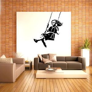 Banksy-Wall-Decal-sticker-vinyl-street-art-graffiti-  sc 1 st  Pinterest & Banksy Wall Decal sticker vinyl street art graffiti bedroom girl ...