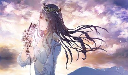 Soft Singer Sweet Microphone Dress Clouds Pretty Singer
