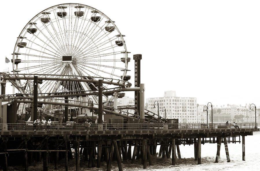 Vintage Santa Monica Pier Photograph Vintage Santa Monica Pier