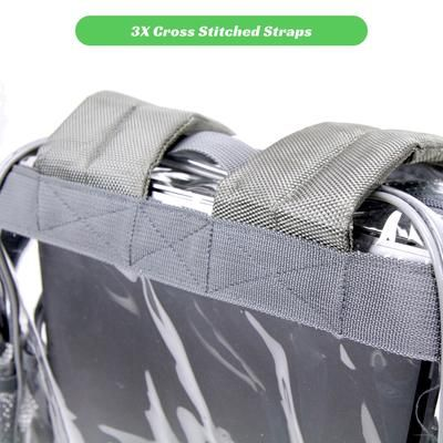 7c17af8176 Heavy Duty Clear Backpack - Cool Gray - THE SMARTY CO. Clear Backpacks