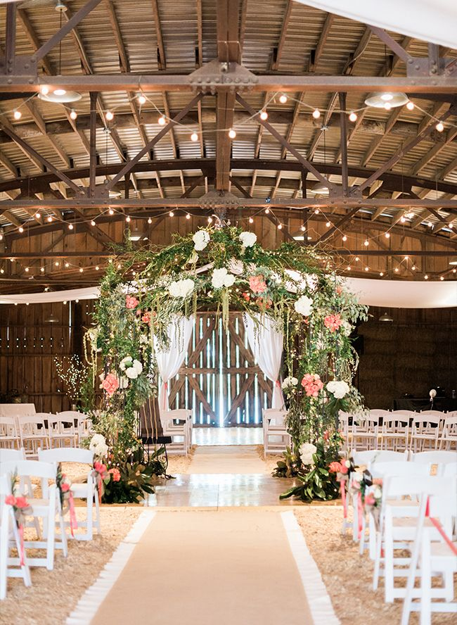 Rustic Pink Barn Wedding Inspired By This Barn Wedding Decorations Barn Wedding Rustic Chic Wedding