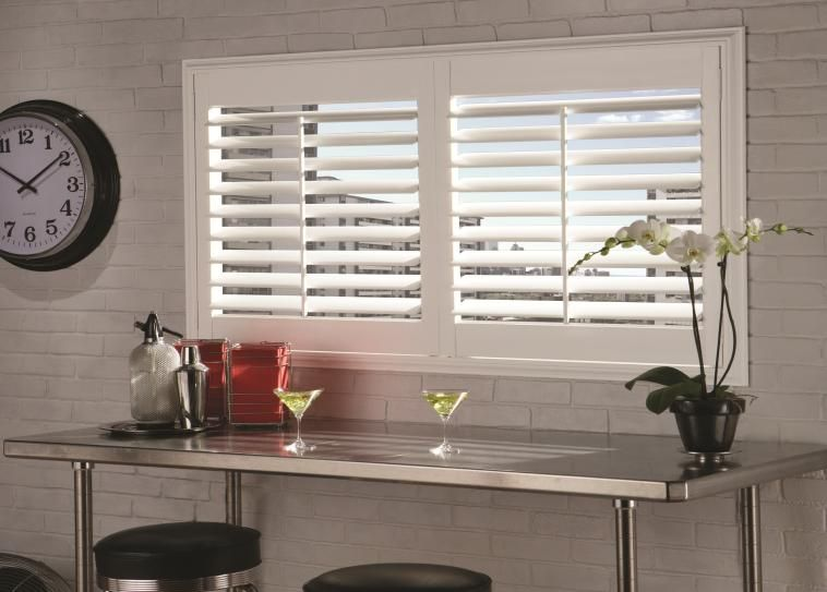 Plantation Shutters Create A Cool Vibe In This Retro