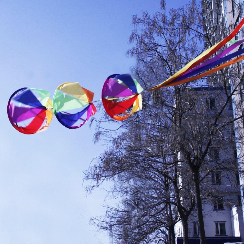 """New 62"""" Rainbow Wind Spinner Windsock Kite Tail Colorful Garden Yard Outdoor Kids Toys Nylon Kite Tails  $28.97  https://goo.gl/h7Gjga  http://hespirides.com  #glam #cool #lovely #hot #like4like"""