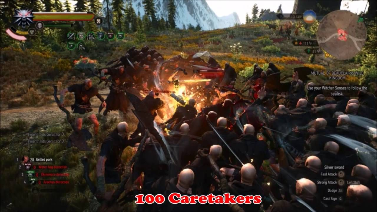 Extreme Witcher 3: 100 monsters battles compilation [DM NG NO CHEATS