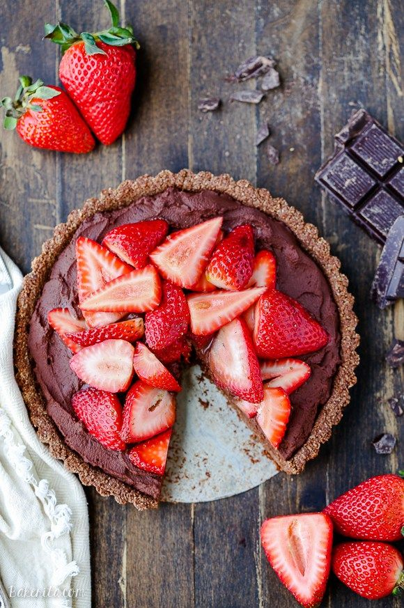 Strawberry Chocolate Tart Recipe Healthy Vegan Desserts