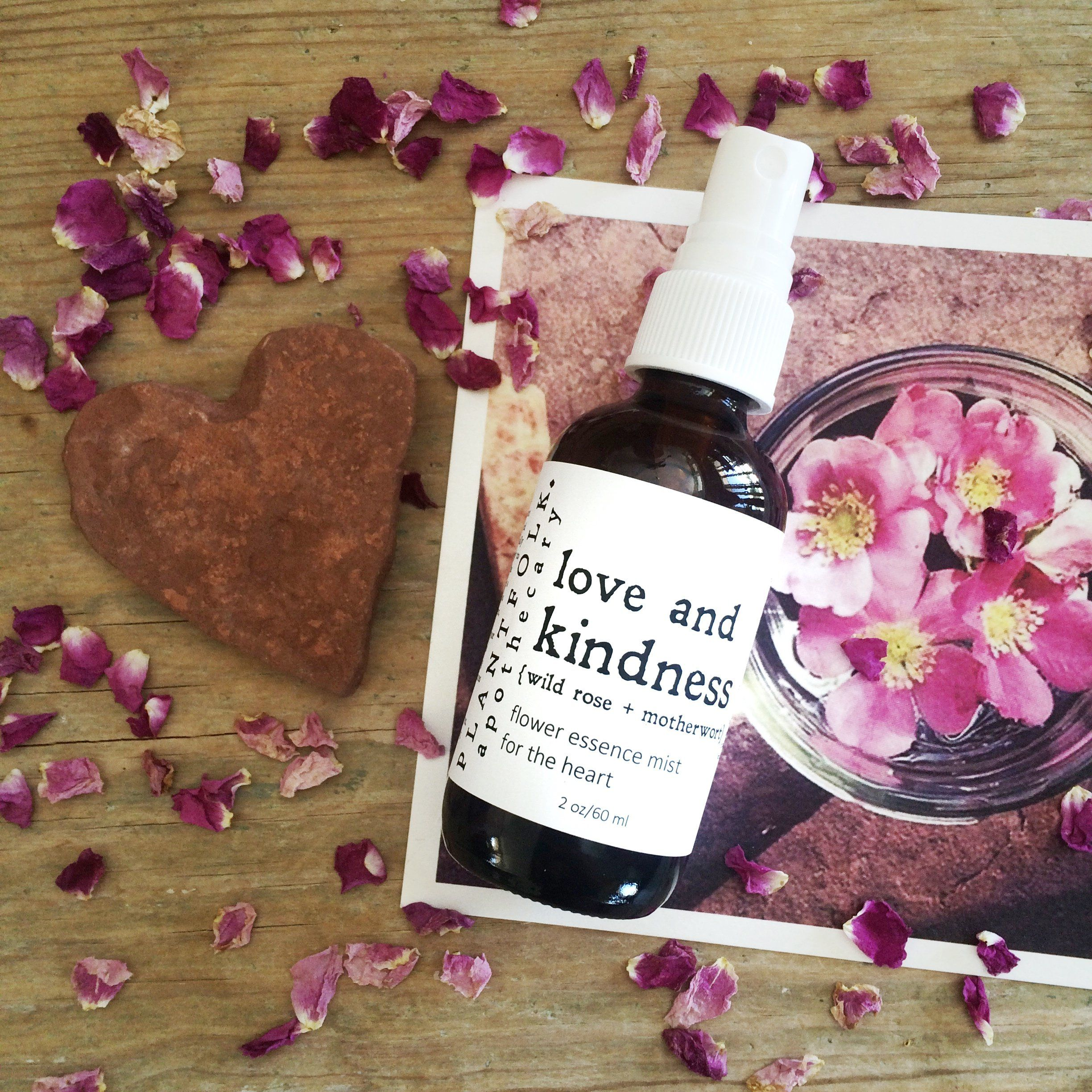 Love and Kindness {wild rose + motherwort} mist for the
