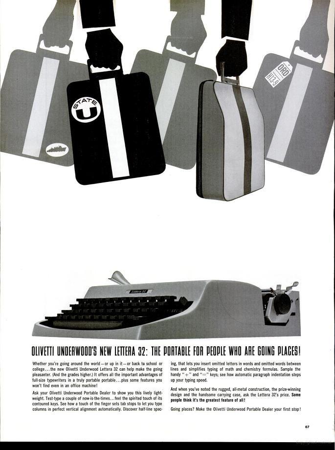 Olivetti Portable Typewriter (1964)