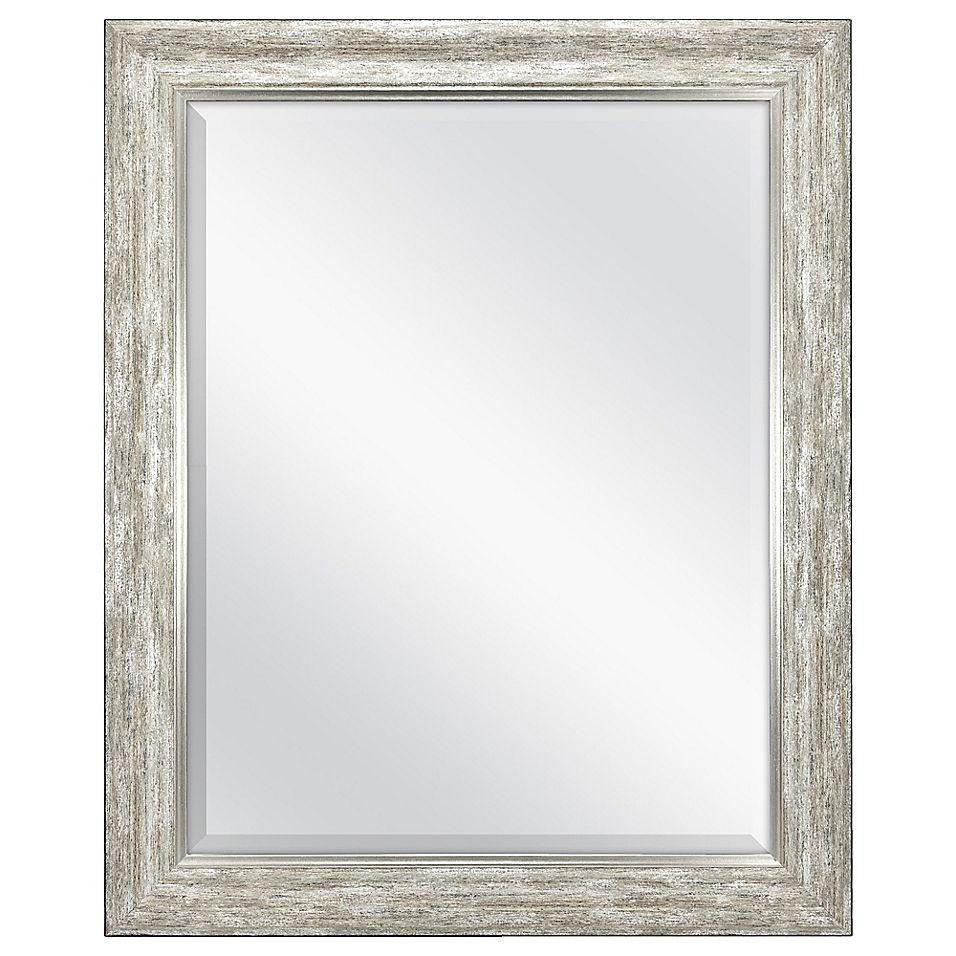 Rustic 26 5 X 32 5 Wall Mirror In Silver Rustic Silver Rustic
