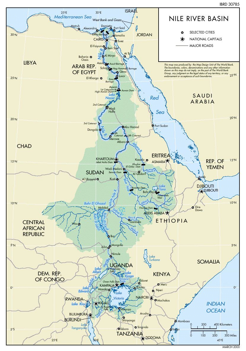 Nile River Map Blue Nile River Map White Nile River Map Lake