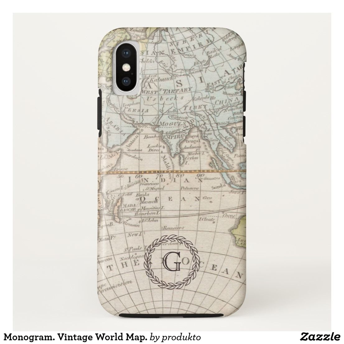 more photos 09062 8f8dc Monogram. Vintage World Map. Case-Mate iPhone Case | Zazzle.com in ...