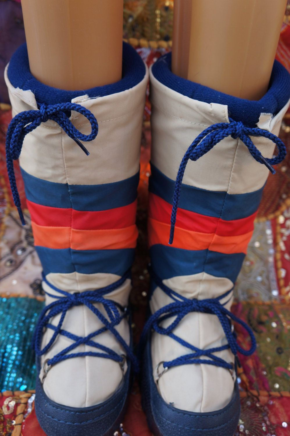 70s Moon Boots 70s Boho Snow Boots Vintage Moon Boot Snow Boots