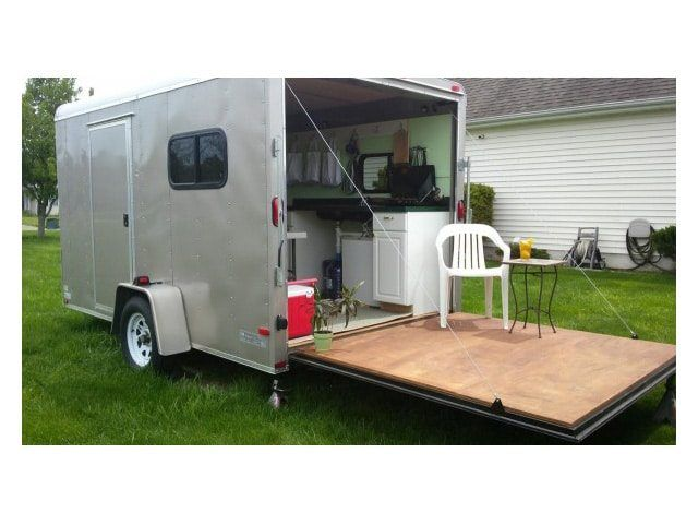 Image Result For Cargo Trailer Camper Conversion