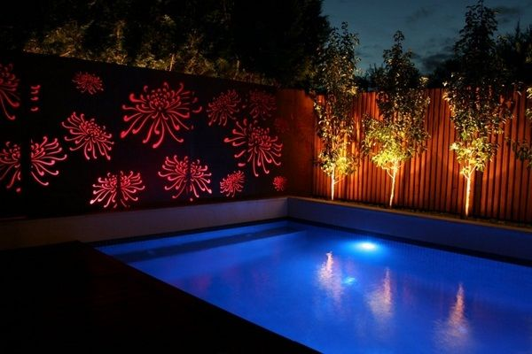 Gartendeko Ideas Modern Perforated Sheets Visual Protection Lighting