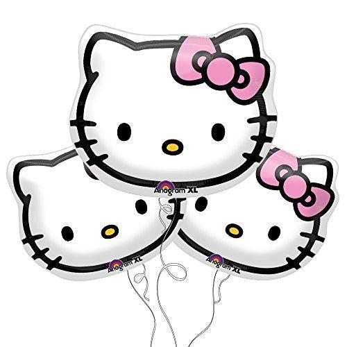 Hello Kitty Face Foil Balloons 13\