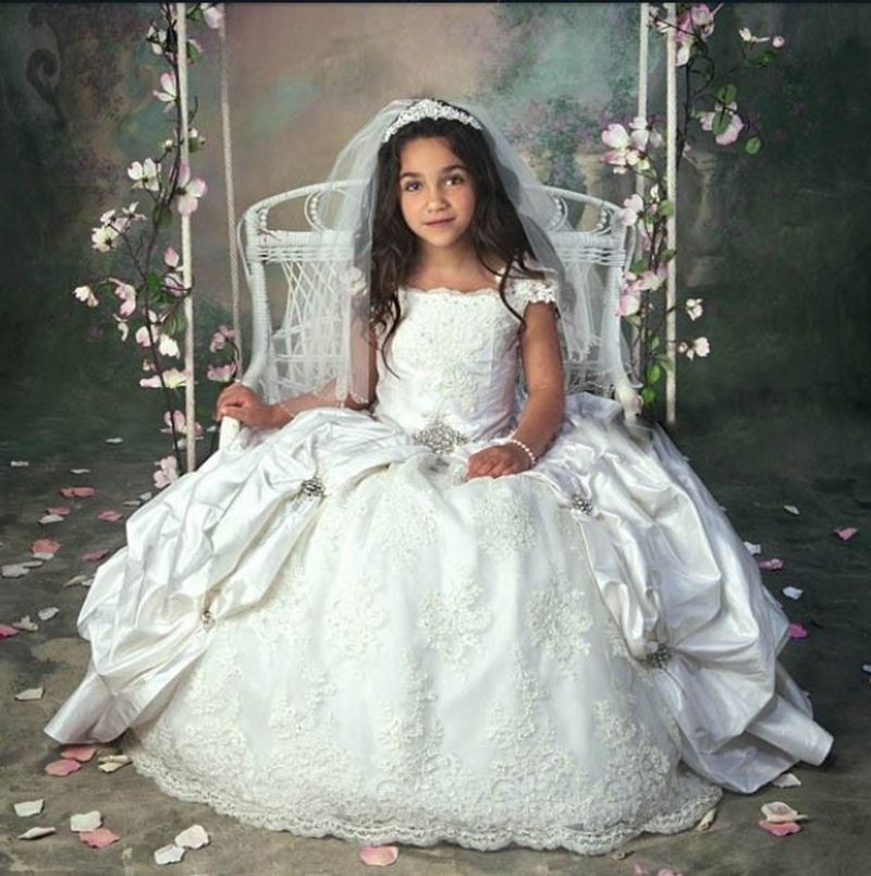 Find More Flower Girl Dresses Information about White/Ivory Puffy ...