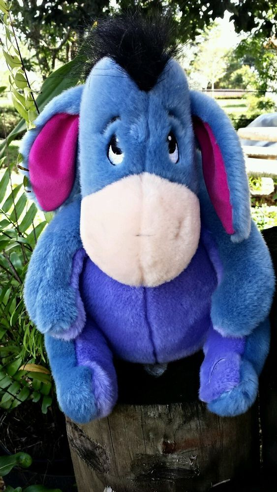 "Disney Eeyore Plush Toy Stuffed Animal 14"" Winnie the Pooh"