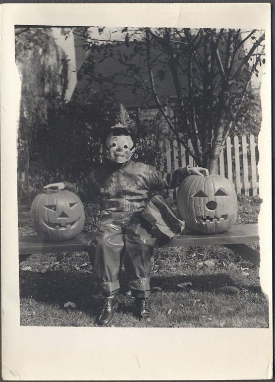 Old Halloween Photo Clowns To The Left Of Me Jokers To The